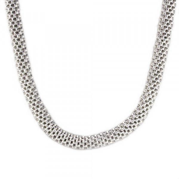 Schmuck Damen Halskette Kette Collier echt Silber 925 rhodiniert