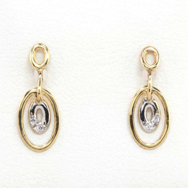 Damen Ohrringe Ohrstecker echt Gold 9 kt 375 Zirkonia