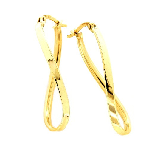 Ovale Damen Ohrringe Creolen Bügelcreolen echt Gold 333 (8 kt)