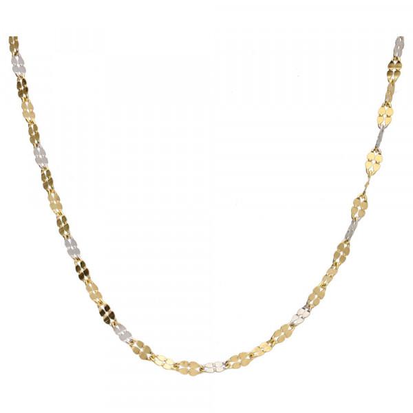 Damen Halskette Kette echt Gold 333 (8 kt) in bicolor 45 cm lang