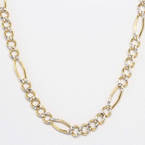 Schmuck Kette Collier Halskette Kette echt Gold 333 42 cm bicolor 8 kt