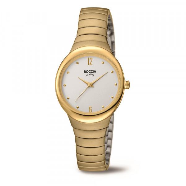 Damenuhr Armbanduhr Titan goldplattiert von BOCCIA TITANIUM Modell 3307-02