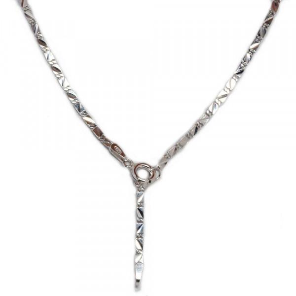 Fußkettchen Fußkette Silber 925 rhodiniert 27 cm lang verstellbar