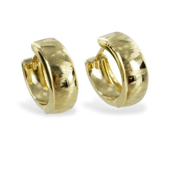 Damen Ohrringe Creolen Klappcreolen Scharniercreolen echt Gold 333 8kt