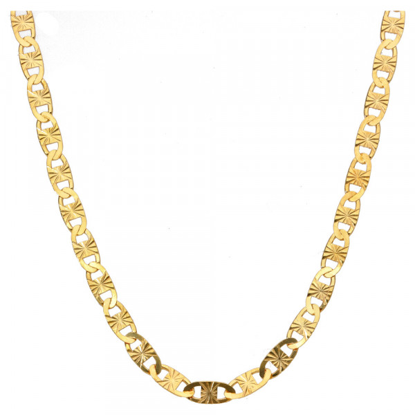 Damen Halskette Kette Silber 925 gelb vergoldet Länge 45 cm