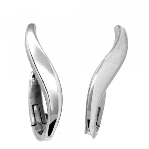 Damen Ohrringe Creolen Klappcreolen echt Silber 925 rhodiniert