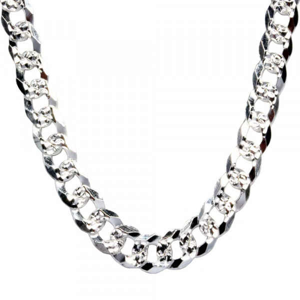 Halskette Panzer Kette Collier 5,5 mm breit echt Silber 925 Sterlingsilber