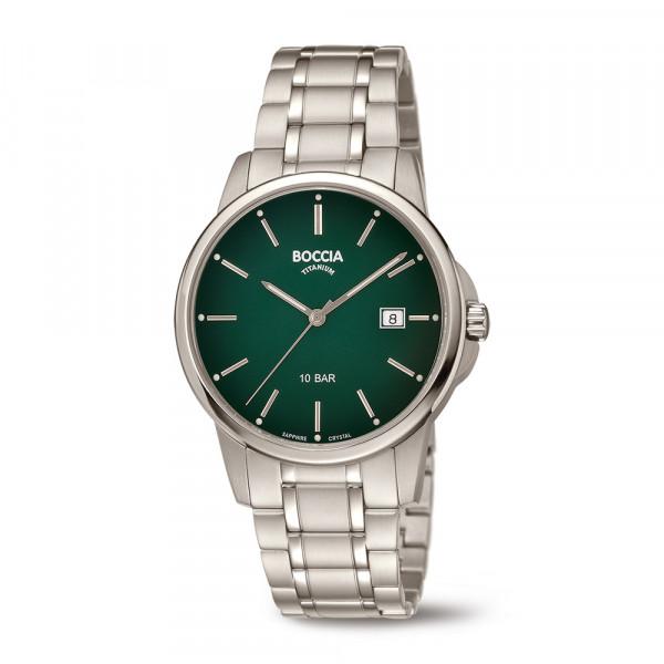 Herrenuhr Armbanduhr aus Titan 10 atm wasserdicht Saphirglas BOCCIA TITANIUM Modell 3633-05