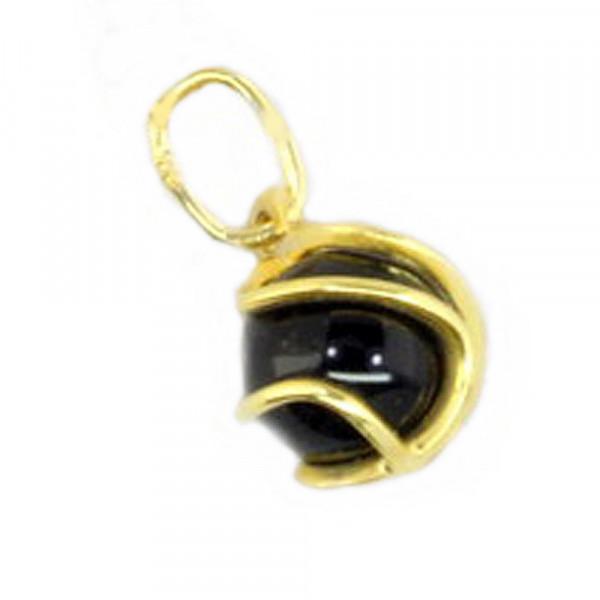 Damen Anhänger Kettenanhänger echt Gold 333 (8 kt) mit Onxy