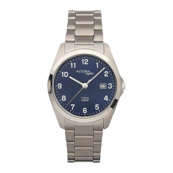 Herrenuhr Armbanduhr Titan Titanium Adora 10 atm wasserdicht mit Saphirglas