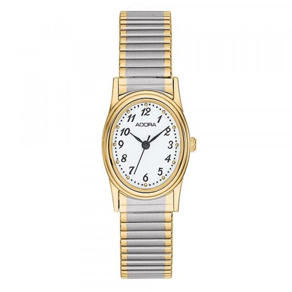 Damenuhr Armbanduhr Adora mit Flexband Zugband bicolor Modell AB6040