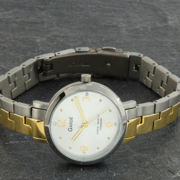 Damenuhr Armbanduhr aus Titan Titanium bicolor Garde' Ruhla Elegance 31511