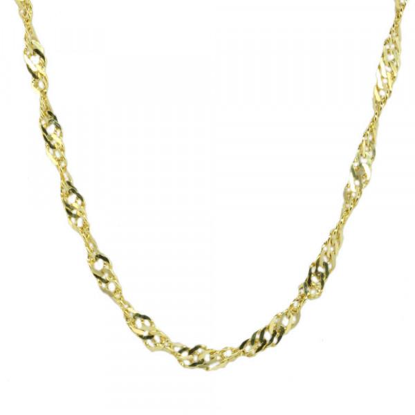 massive Damen Kette Halskette Singapur echt Gold 333 Länge 49 cm