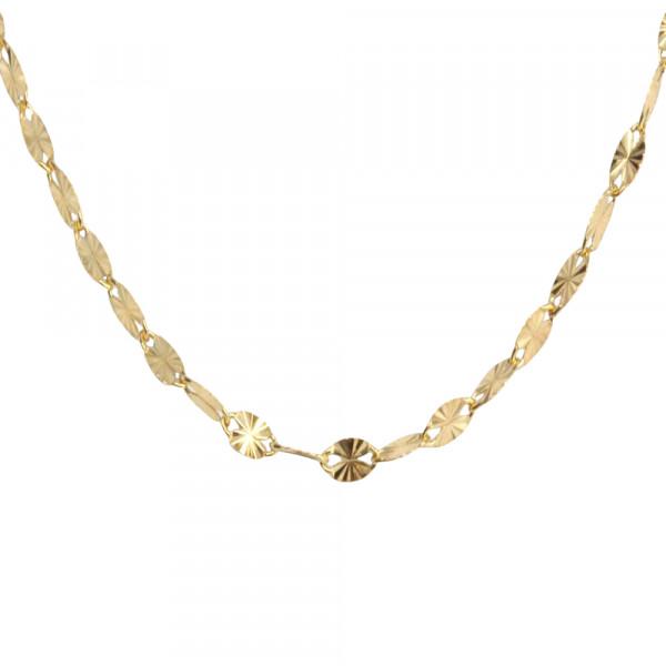 Damen Collier 585er Halskette Kette echt Gold Legierung 585 45 cm 14 kt