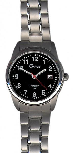 Damen Uhr Armbanduhr Material Titan Titanium Garde' Ruhla 5 atm wasserdicht