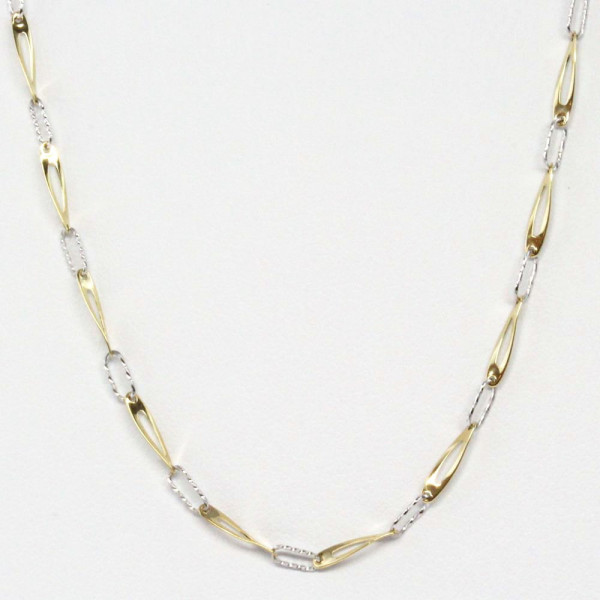 Damen Schmuck Collier Halskette Kette echt Gold 333 42 cm bicolor 8 kt