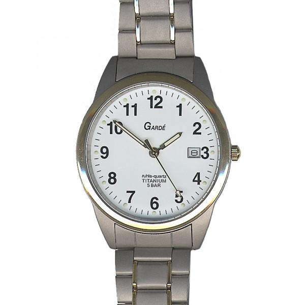 Herren Uhr Armbanduhr Material Titan Titanium Garde' Ruhla 5 atm wasserdicht