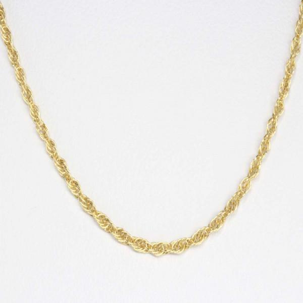 Damen Collier Halskette Kette echt Gold 585 Kordelkette 45 cm 14 kt 109989