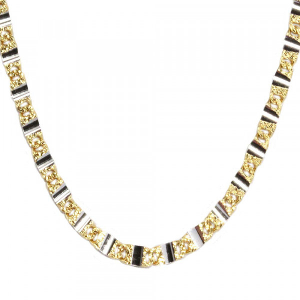 Schmuck Damen Kette Collier Halskette Kette echt Gold 333 42 cm bicolor 8 kt