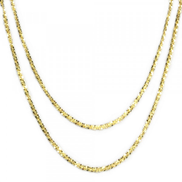 Damen Armband Armkette echt Gold 333 8 kt zweireihig 19 cm