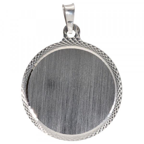 Großer Ketten Anhänger Gravurplatte aus Silber 925/rhodiniert