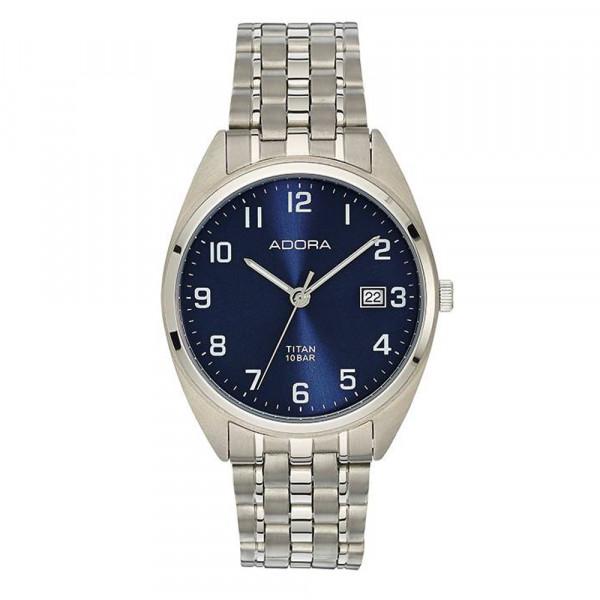Herren Uhr Armbanduhr Titan Titanium Adora 10 atm wasserdicht