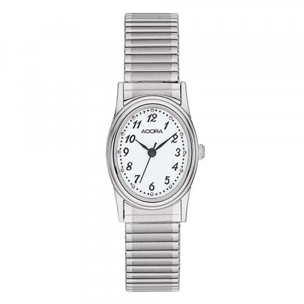 Damenuhr Armbanduhr Adora mit Flexband Zugband Modell AB6041