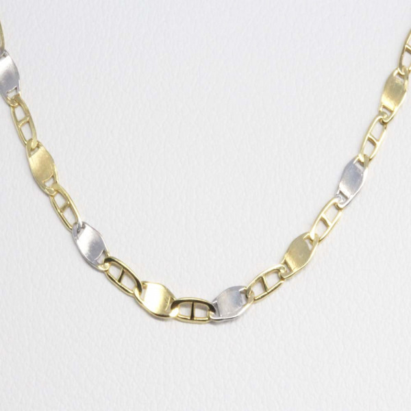 Damen Armband Armkette echt Gold 333 8 ct bicolor 18,5 cm lang