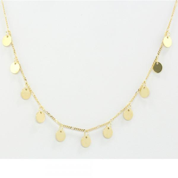 Damen Collier Halskette Konfettikette echt Gold 333 8 ct Länge 43 cm verstellbar