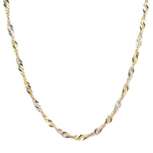 Damen Collier Singapur Halskette echt Gold 333 (8 kt) 45 cm lang