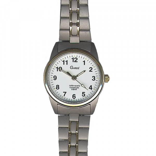 Damen Uhr Armbanduhr Titan Titanium Garde' Ruhla 5 atm Elegance 7170-9