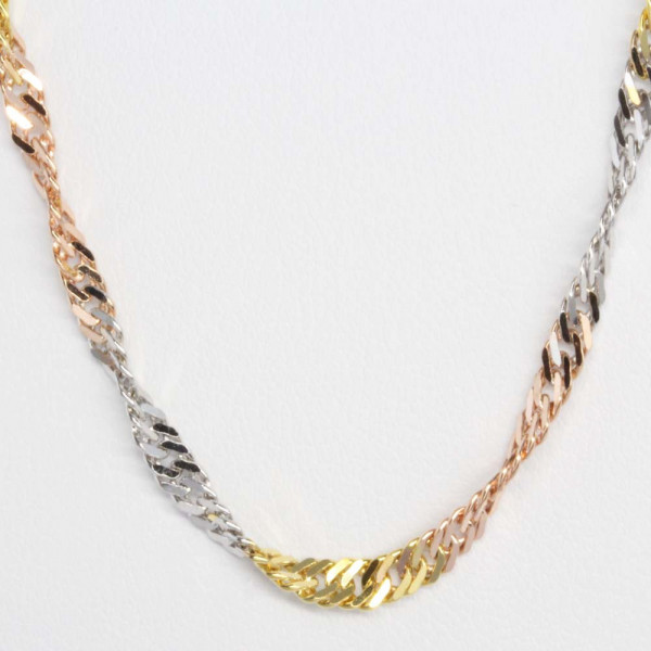 Schmuck Damen Collier Halskette Kette echt Gold Legierung 333 tricolor 8 kt