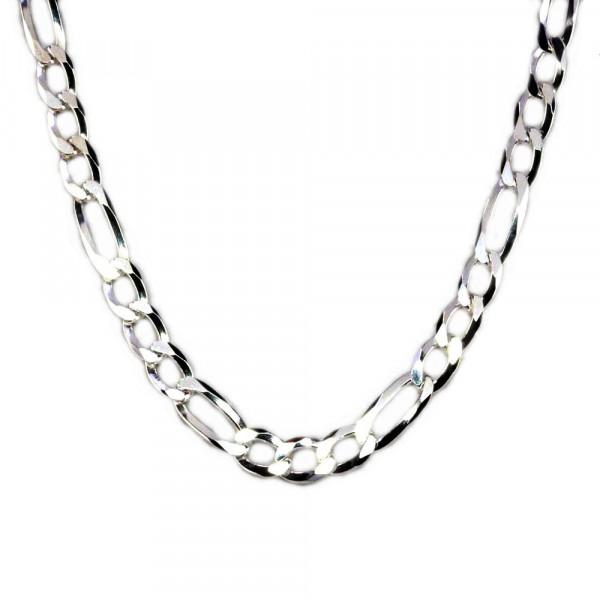 Massive Fußkette Fußkettchen Figaro Länge 28 cm verstellbar echt Silber 925