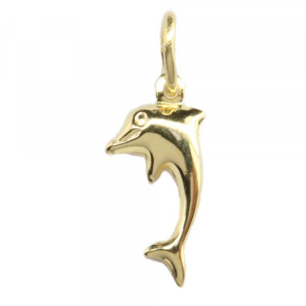 Schmuck Damen Anhänger Kettenanhänger Delphin echt Gold 333 8 ct