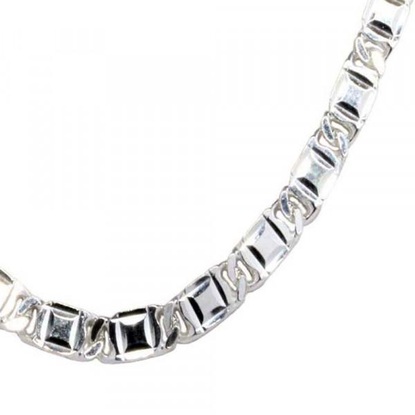 Damen Fußkettchen Fußkette Silber 925 rhodiniert Sterlingsilber verstellbar