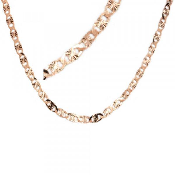 Damen Fußkette Fußkettchen Silber 925 rose' vergoldet Länge 28 cm verstellbar
