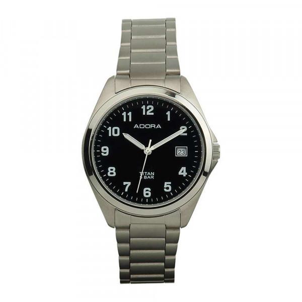 Herren Uhr Armbanduhr Material Titan Titanium Adora 5 atm wasserdicht
