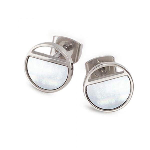 Ohrstecker Ohrringe Titan von BOCCIA TITANIUM mit Perlmutt Modell 05034-01