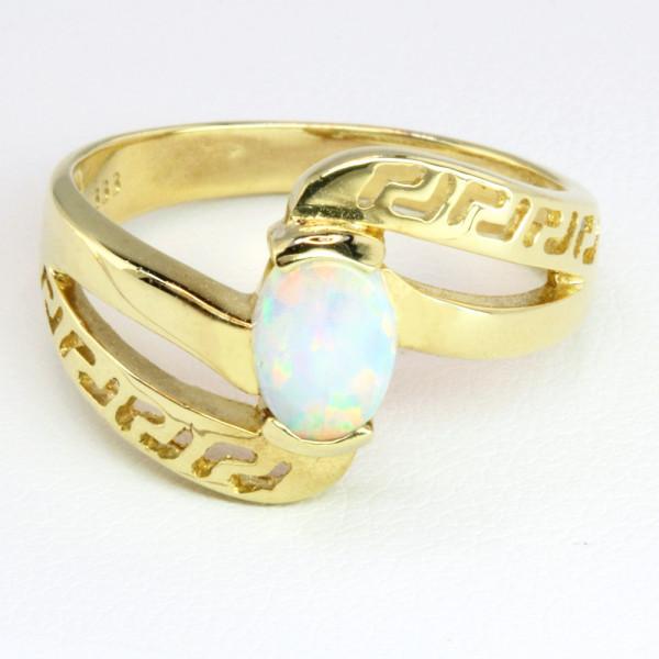 Damenring echt Gold 333 (8 kt) mit Opal Größe 55,5 (Einzelstück)