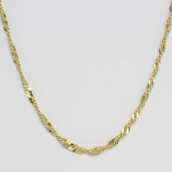 Damen Collier Halskette Kette echt Gold Legierung 333 8 ct 70 cm lang