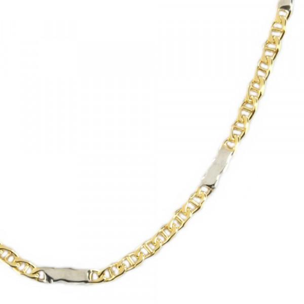 Damen Fußkettchen Fußkette echt Gold 333 bicolor Länge 26,5 cm verstellbar