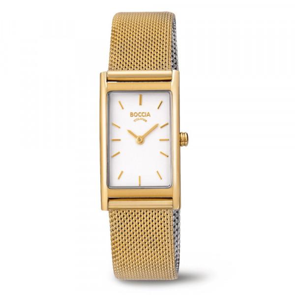 Damenuhr Armbanduhr BOCCIA TITANIUM mit Edelstahlarmband Modell 3304-03