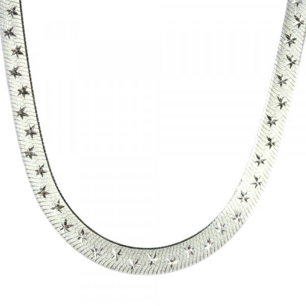 Damen Halskette Collier echt Silber 925 rhodiniert 42 cm lang