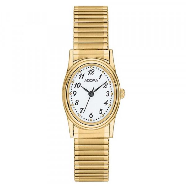 Damenuhr Armbanduhr Adora mit Flexband Zugband Modell AB6039