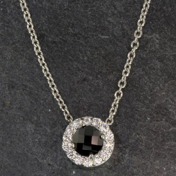 Damen Halskette Kette echt Silber 925 rhodiniert Länge 44 cm
