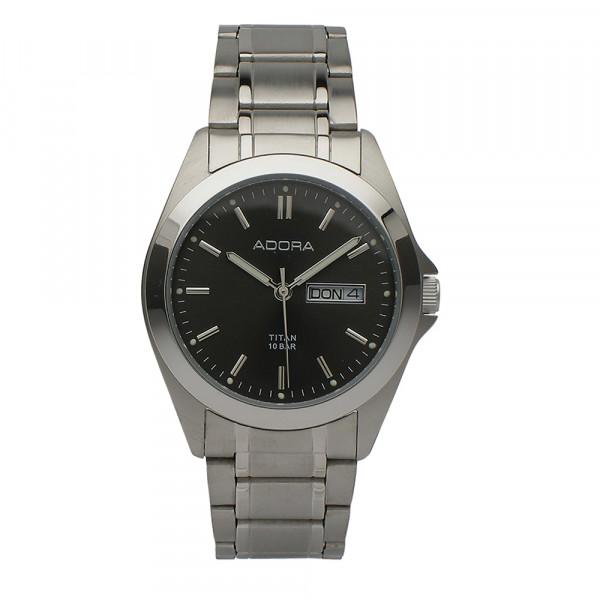 Herren Uhr Armbanduhr Material Titan Titanium Adora 10 atm wasserdicht