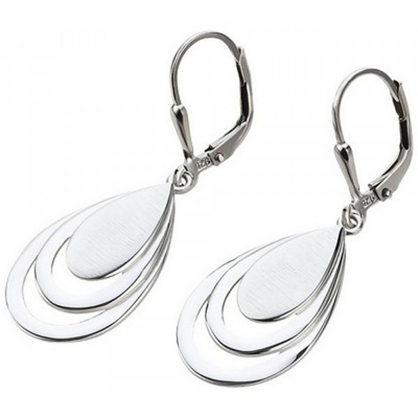 Damen Ohrringe Ohrhänger Ohrpendel echt Silber 925 rhodiniert