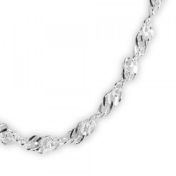 Halskette Kette Singapur Silber 925 rhodiniert 2,5 mm breit