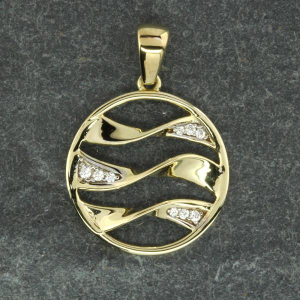 Damen Anhänger Kettenanhänger echt Gold 333 (8 kt) mit Zirkonia