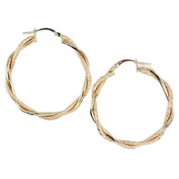 Damen Ohrringe Creolen Bügelcreolen echt Gold 375 (9 kt)